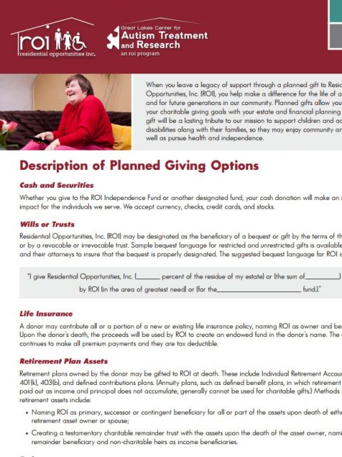 ROI Planned Giving